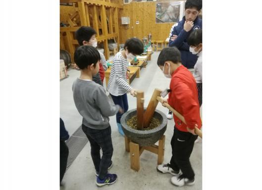 椿油搾油体験-1