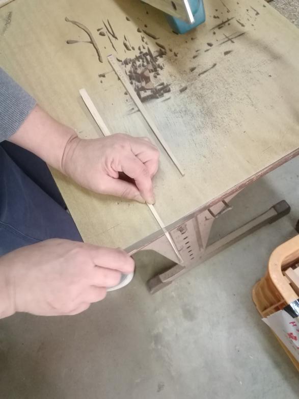 椿箸作り体験-2