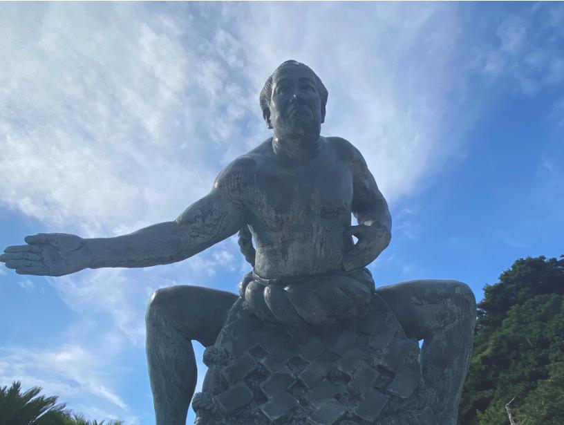 第五十代横綱佐田の山関之像-1